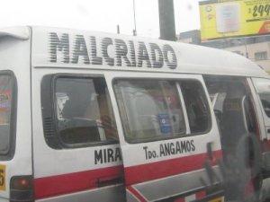 """Malcriado"" Ruta Av. Angamos"