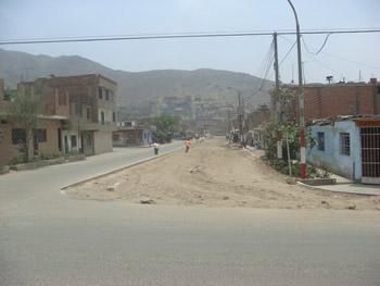 Calle Santa Rosa antes de la construcción de la Alameda (Foto: Municipalidad de Comas)