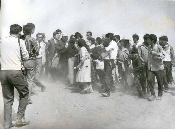 Velasco en Villa El Salvador (Foto Archivo Amigosdevilla)