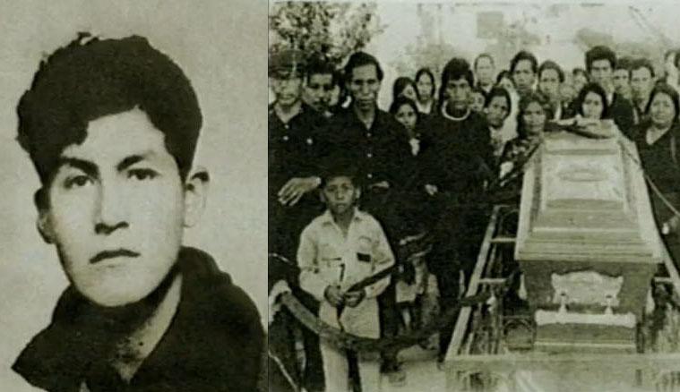 Edilberto Ramos, caído durante el desalojo de Pamplona