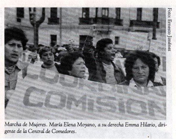 María Elena Moyano. Militante de izquierda, dirigente popular.